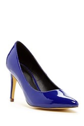 Michael Antonio Lazare Patent Low Heel Pump Blue