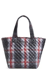 M Z Wallace Mz Wallace 'Medium Metro' Quilted Tote Black Plaid