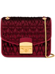 Furla Metropolis Quilted Shoulder Bag Red