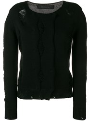 Federica Tosi Abstract Knit Jumper Black