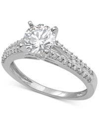 Macy's Diamond Engagement Ring 1 1 2 Ct. T.W. In 14K White Gold