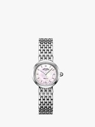 Rotary 'S Balmoral Diamond Bracelet Strap Watch Silver Mother Of Pearl Lb00899 07 D