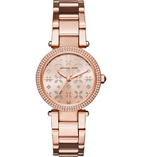 Michael Kors Mk6470 Mini Parker Rose Gold Toned Stainless Steel Watch