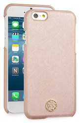 Tory Burch 'Robinson' Iphone 6 And 6S Case Metallic Rose Gold