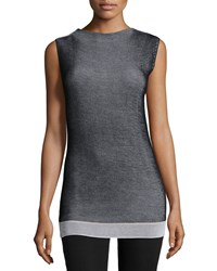 Cnc Costume National Sleeveless High Neck Top Black Women's