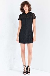 Kimchi And Blue Lace Mini Shirt Dress Black