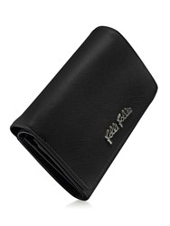 Folli Follie Saffiano Fold Wallet Black
