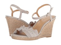 Jack Rogers Vale Dove Grey Suede Wedge Shoes Brown
