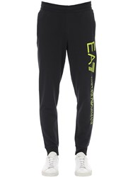 Emporio Armani Train Logo Cotton Sweatpants Black