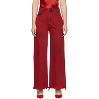 Marques Almeida Red Boyfriend Jeans