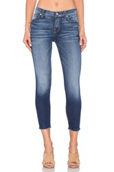 7 For All Mankind The Ankle Skinny Bright Indigo Stretch