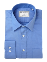 Howick Canyon Twill Shirt With Pocket Cornflower