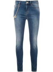 Love Moschino Chain Detail Skinny Jeans Blue