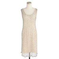 J.Crew Collection Beaded Shift Dress Dusty Alabaster