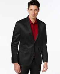 Inc International Concepts Carson Slim Fit Satin Blazer Only At Macy's Black