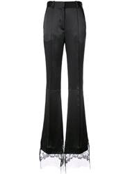 Vera Wang Flared Tailored Trousers Black