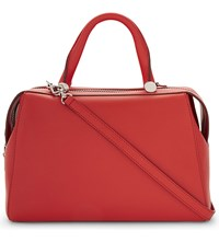 Max Mara Small Leather Bowler Red