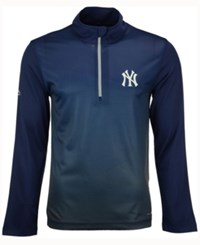 Majestic Men's New York Yankees Good And Approved Half Zip Pullover Navy