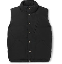 Battenwear Quilted Cotton Blend Down Gilet Black