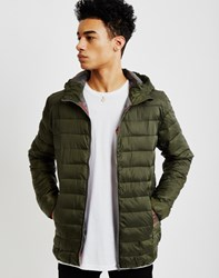 Only And Sons Mens Long Sleeve Short Nylon Jacket Green