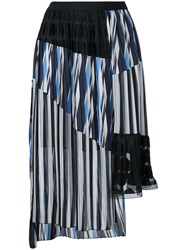 Kolor Pleated Layered Skirt Blue