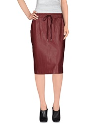 Emma Cook Knee Length Skirts Dark Blue