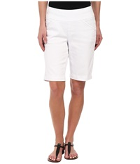 Jag Jeans Ainsley Bermuda Classic Fit Colored Denim White Women's Shorts