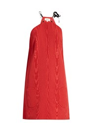 Isa Arfen Chain Strap Faille Dress Red