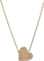 Bianca Pratt Heart Pendant Necklace Colorless