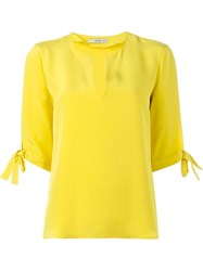 Etro Sleeve Knot Blouse Yellow And Orange