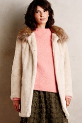 Unreal Fur Bizeau Faux Fur Coat Beige