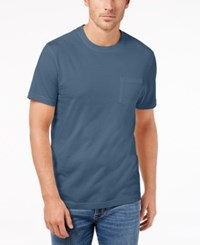 Club Room Men's Heathered T Shirt Created For Macy's Wedgewood Blue