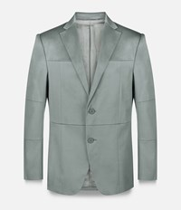 Christopher Kane Grid Single Breasted Tailored Jacket Grey