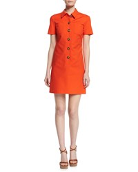 Michael Kors Short Sleeve Button Front Polo Dress Sienna Women's