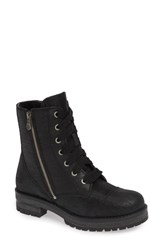 Bos. And Co. Paulie Waterproof Lace Up Bootie Black