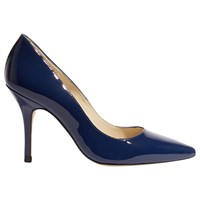 Karen Millen Patent Collection Stiletto Heeled Court Shoes Navy Leather