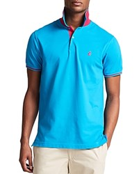 Thomas Pink Brandon Plain Classic Fit Polo Turquoise Pink