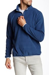 Peter Millar Marseille Hid Zip Fleece Pullover Blue
