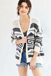 Ecote Ingrid Zipper Cardigan Neutral Multi