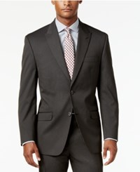 Sean John Men's Classic Fit Brown Stripe Suit Jacket