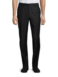 Brioni Flannel Regular Fit Wool Trousers Anthracite