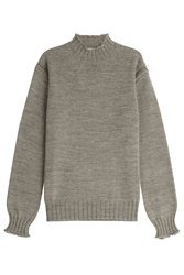 Alexa Chung For Ag Scotland Wool Turtleneck Pullover Grey