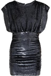 Iro Miracle Sequined Stretch Jersey Mini Dress Anthracite