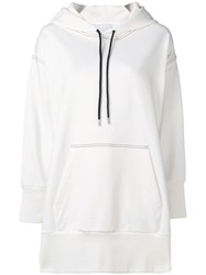 3.1 Phillip Lim French Terry Oversized Hoodie White