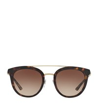 Bulgari Bvlgari Round Acetate Sunglasses Female Brown