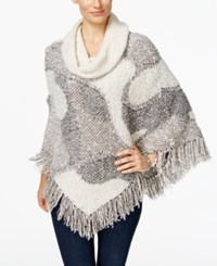 Inc International Concepts Cowl Neck Poncho Only At Macy's Butter Cream