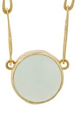 Judy Geib Women's Chalcedony Echo Necklace Colorless