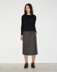 Moderne Straight Simple Skirt Charcoal
