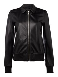 Replay Classic Leather Jacket Black