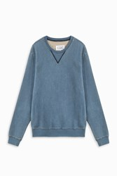 Maison Martin Margiela Men S Bleach Patch Jumper Boutique1 Blue